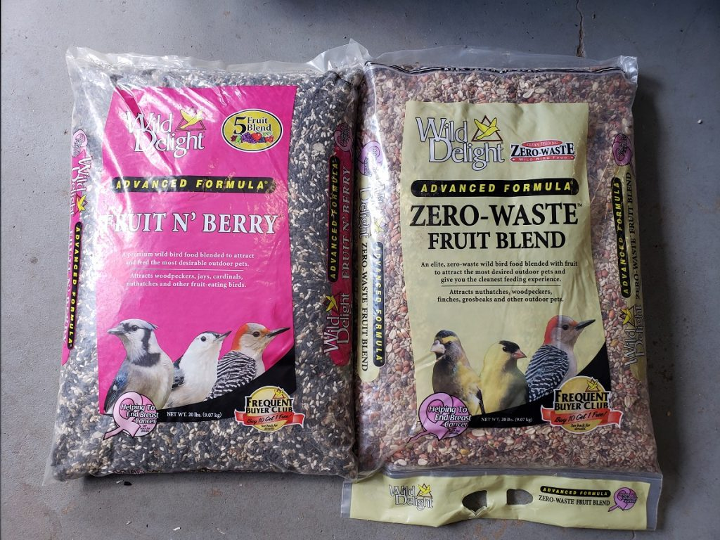 premium blend bird seed offered by Yorktown Feed & Seed Store